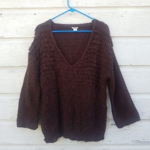 Ecote Copper Brown Thick Fluffy Sweater